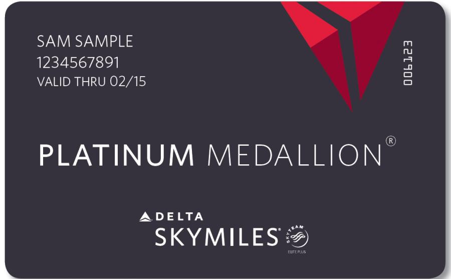 Delta Skymiles Platinum Medallion